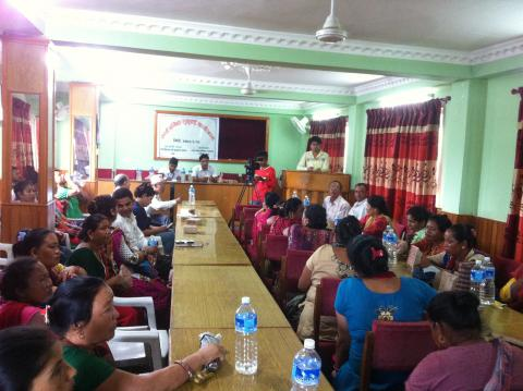Public Hearing at Vyas Municipality